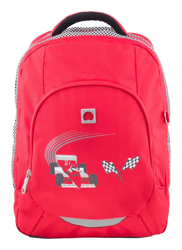 15a5fe35725 Školní dvoukomorový batoh Delsey School Red car